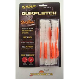 "New Archery Products (NAP) NAP Quikfletch Vane System Quick Spin Vanes 2"" 6pk Orange/White"