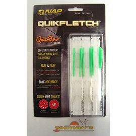 "New Archery Products (NAP) NAP Quikfletch Vane System Quick Spin Vanes 2"" 6pk Green / White"