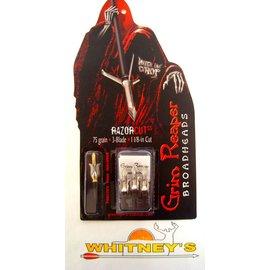 """Grim Reaper Grim Reaper RazorCut SS Broadhead-1 1/8"""" Cut- 75 Grain 3 Blade"""