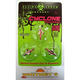 "Flying Arrow Archery Flying Arrow Archery The Cyclone Broadhead  100 Gr. 1"" Pink C3100-P 3pk"