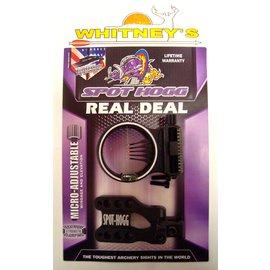 Spot Hogg Spot Hogg Real Deal 5 Pin Micro Adjustable Fiber Optic Archery Sight LH RH Black