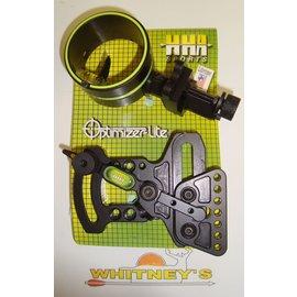 HHA Sports HHA Optimizer Lite XL-5000 Right Hand Fiber Optic Bow Sight 1 Pin Black