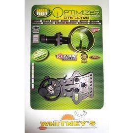 HHA Sports HHA Optimizer Lite Ultra DS-XL5019 Left Hand Fiber Optic Bow Sight 1 Pin Black