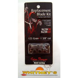 "Grim Reaper Grim Reaper RazorTip & RazorCut Replacement Blade Kit 125 Grain 1 3/8"" cut #1908"