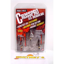 Parker Compound Parker Red Hot Crosspro 100 Grain Crossbow Broadheads - 3 Pk # 38-2153