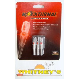 Nockturnal Nockturnal Lighted Nock-S Red 3 Pk.-NT-202