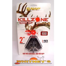 New Archery Products (NAP) NAP KILLZONE Trophy Tip -100 Grain Expandable Broadhead - 60-997