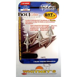 "Excalibur Excalibur Boltcutter 3 Blade Tuneable XBow BAT Broadheads 150Gr 1 1/16"" 3Pk 6673"