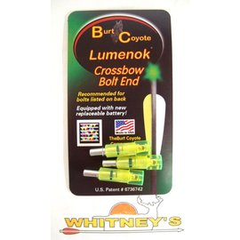 "Burt Coyote Co., Inc. Burt Coyote Lumenok Crossbow Bolt End Nock  Firebolt Flat 3Pk.302"" ID EXCF3G"
