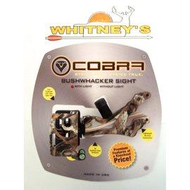 Cobra Cobra Smoke Bushwhacker 4 Pin Fiber Optic Sight With Light Camo Ambidextrous C-675LOST