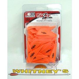 Bohning Company, LTD Bohning Blazer Vanes - 100 pack in Neon Orange-10832NO2