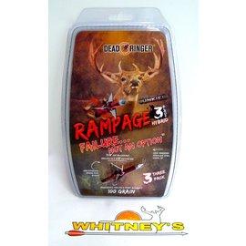 """Dead Ringer LLC Dead Ringer Rampage 100 Gr., 3 Blade, 1.5"""" Cut-DR4705"""