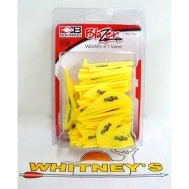 Bohning Company, LTD Bohning Blazer Vanes - 100 pack in Neon Yellow-10832NY2