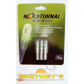Nockturnal Nockturnal Lighted Nocks NT-505 X Green-Three Pack