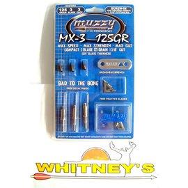Muzzy Products Muzzy 3 Blade 125 Grain Broadhead -MX-3- 235- 3 pack
