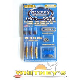 Muzzy Products Muzzy-207-MX3- 3 Blade 75 Grain Broadhead - 3 pack broadheads