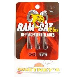 Fulton Precision Archery LLC. Ram Cat Broadheads- 125 Grain -by Smoke Broadheads-Replacement Blades-RAM125RB