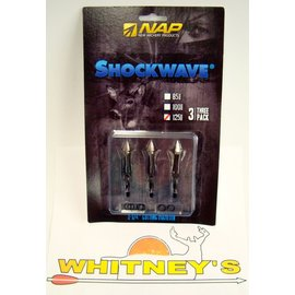 New Archery Products (NAP) NAP Shockwave 3 Blade 125 Grain  Broadhead- 60-284