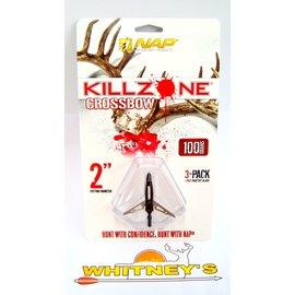 """New Archery Products (NAP) NAP Killzone Crossbow Broadheads 100Gr 2"""" -60-814"""