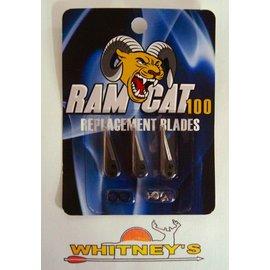 Fulton Precision Archery LLC. Ram Cat Broadheads- 100 Grain -by Smoke Broadheads-Replacement Blades-RAM100RB
