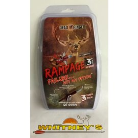 """Dead Ringer LLC Dead Ringer Rampage Hybrid 3 Blade 125gr -1.5"""" 3pk #DR4972"""