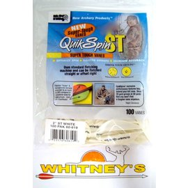 """New Archery Products (NAP) NAP QuikSpin 2"""" Vanes - White-60-619"""