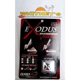 Quality Archery Design QAD Exodus 85/100 Gr. Replacement Blades - Swept-BR100-S