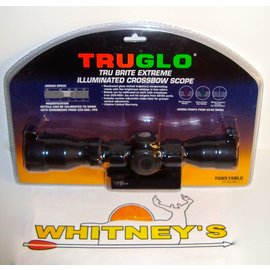 TRU GLO TruGlo TruBrite Extreme Illuminated Crossbow Scope-TG8515BLC