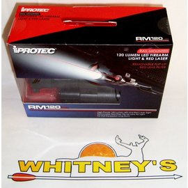 Nebo NEBO iProtec Rail-Mounted LED Firearm Light And Red Laser RM120LSR-#6094