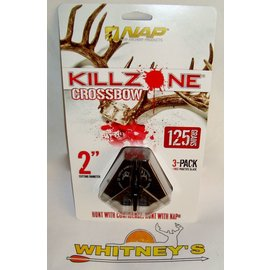 New Archery Products (NAP) NAP KILLZONE CROSSBOW 125 Grain Broadhead-3PK-60-815