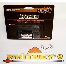 "Wasp Archery Products Wasp Archery-The BOSS Replacement Blades-100/125 Gr. 1 1/8"" Cut-.27""thick-#7018"