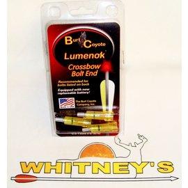 Burt Coyote Co., Inc. Burt Coyote Lumenok Crossbow Lighted Crescent Bolt -  3pk Red - 22193F3