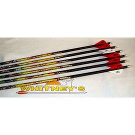 Eastman Outdoors 6 Carbon Express Mayhem Hunter Arrows 250 Blazer Vanes