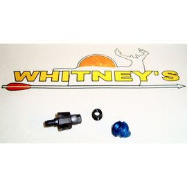 "Specialty Archery, LLC Specialty Archery 1/4"" Large Hooded Peep Housing 37 Degree - BLUE-749-37LH-BL"