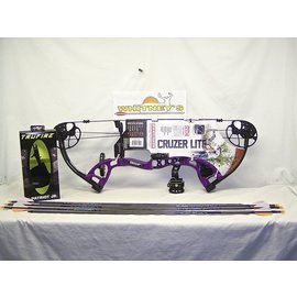 Escalade Fred Bear 2016 Cruzer LITE Purple Bow Left Hand FULL Package 5-45# 12-27""