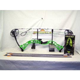 "BowTech Diamond by Bowtech - Prism Neon Green Package- Right Hand 5-55# 18-30"" Draw"