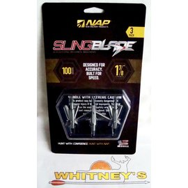 "New Archery Products (NAP) NAP Slingblade 100 Gr. Trophy Tip - 1 7/8"" Cut-#60-142"