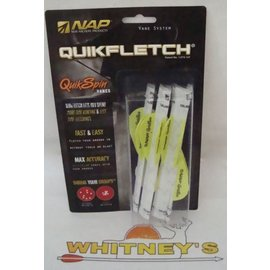 "New Archery Products (NAP) NAP 2"" QuikSpin Quikfletch 6 Pack W/Y/Y FL. GR./WH-60-633"