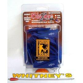 Bohning Company, LTD Bohning Blazer Vanes - 100 pack in Blue