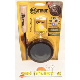 Hunter Specialties (HS) HS Strut Pan Call Raspy Old Hen Slate W/ Diaphragm Call-07010
