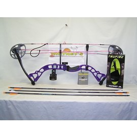 "BowTech Diamond by Bowtech - Prism Purple Package- Right Hand 5-55# 18-30"" Draw"