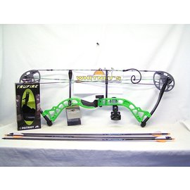 "BowTech Diamond by Bowtech - Prism Neon Green - Left Hand PKG. 5-55# 18-30"" Draw"