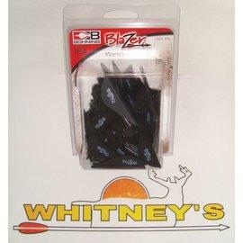 Bohning Company, LTD Bohning Blazer  Vanes 100 Pk. Black-10832BK2