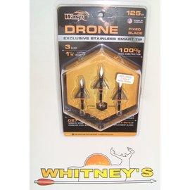 """Wasp Archery Products Wasp Drone Broadhead 125 Gr. 3 Blade 1 1/8"""" -2125"""