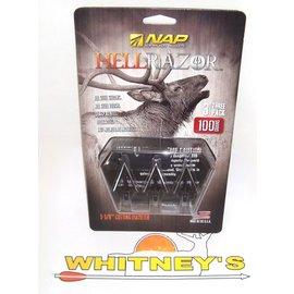 New Archery Products (NAP) NAP HellRazor 100 Grain Broadheads-60-410
