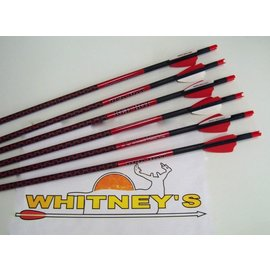 "Parker Compound Parker Archery Red Hot Crossbow Xbow  Carbon Bolt Arrow 6 Pack Box 20""- 38-225"