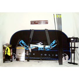 BowTech Diamond Edge SB-1 RH 7-70# Electric Blue Blaze RAK w/ Diamond Soft Case-A12976