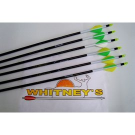 """Eastman Outdoors Carbon Express Mutiny Arrows 250 -Crested 2""""Vanes-6PK-50951"""