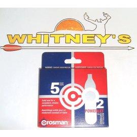 Crosman Crosman 5 Count CO2 Powerlet 12g Cartridges-3123