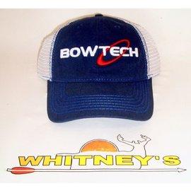 BowTech Bowtech Baseball Cap-Adjustable Velcro Fit-Blue/White Mesh-CEDAR-BT15A-H141